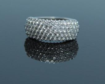 18K white Gold Diamond Statement Ring, 3.03 CTW