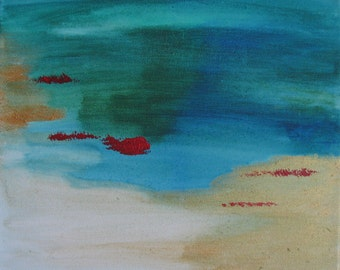 dream acrylic painting of the sea