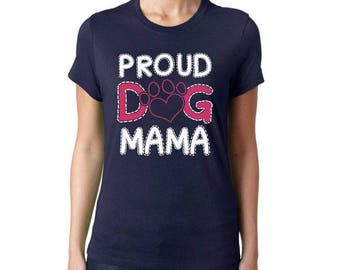 Dog lover t shirt-Proud Dig Mana-Ladies fit