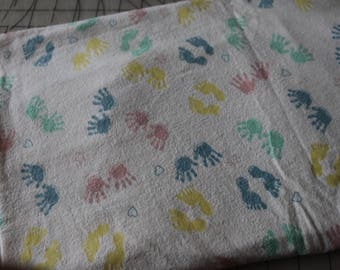1 Vintage Baby Bare Feet Flannel Fabric Layette Fabric Soft Flannel Blanket Fabric 1