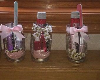 Decorative Mason Jars for Bridal Showers