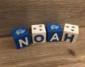 Handmade Wooden Name Blocks