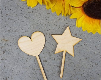 Cake Topper-heart and star Decorations