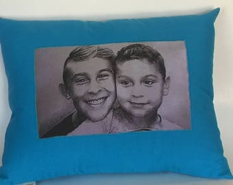 "Photo Memory Pillow, Made to Oder 12"" by 15"""