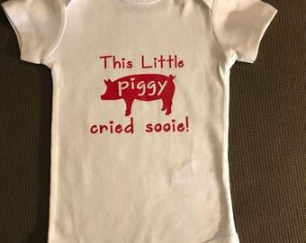 This little piggy cried sooie oneseie