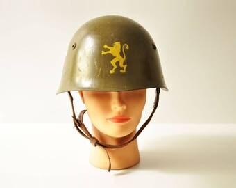 Post World War II Helmet M51/72 Bulgarian Military Steel Helmet
