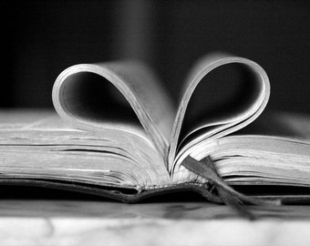 Heart-Shaped Bible Pages Photo
