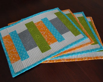 Dining Room Table Quilted Placemats - Set of 4