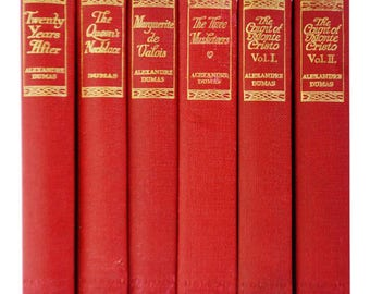 Antique Set of Alexandre Dumas Books The Count of Monte Cristo The Three Musketeers