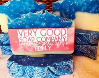 Emily - Sea Salt & Rain Soap // Cold Process Soap // Handmade soap // Vegan Soap