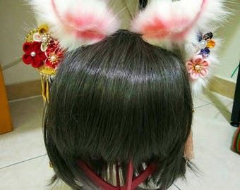 Fox Ears/Kitsune Ears Traditional Japanese Inspired