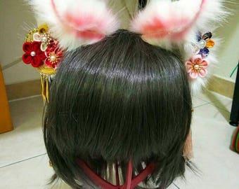 Fox Ears/Kitsune Ears Traditional Japanese Inspired