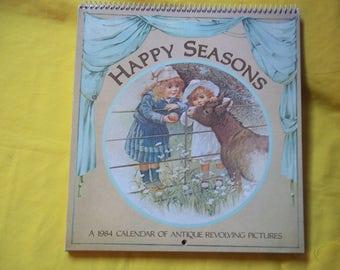 Happy Seasons, a 1984 Calendar of Antique Revolving Pictures, Philomel Books