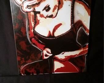 Pinup spraypaint stencil Art