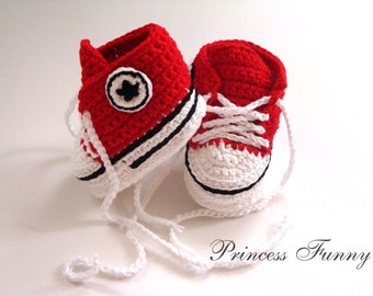 Crochet baby sneakers, newborn shoes, crochet booties, crochet baby shoes, baby gift, baby shower, knitted baby shoes, handmade, gift ,