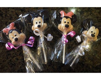 Mickey & Minnie Chocolate Lollipops
