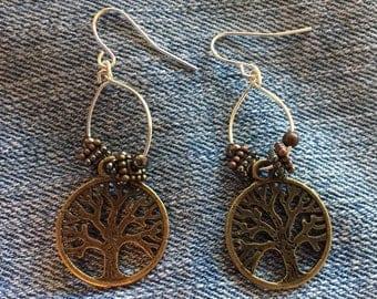 Tree of Life Yoga Earrings