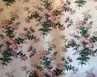 "3.25 yards ""Chelsea Manor "" Chintz Schumacher Fabric"