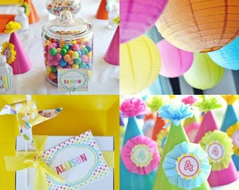 Over The Rainbow 1st Birthday Party - Everything you need Fully Customized and Delivered To Your Door