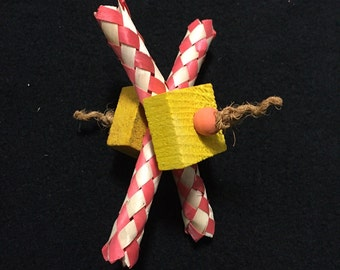 Pine Cruncher Toy for Chinchilla, Guinea Pig, Rat, Rabbit and Bird