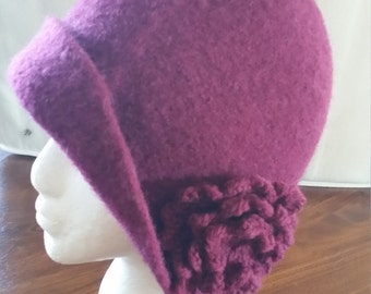 Felted fashionable hat Women's M