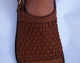 Sandals of leather 100% made by hand, fashion, quality and warranty