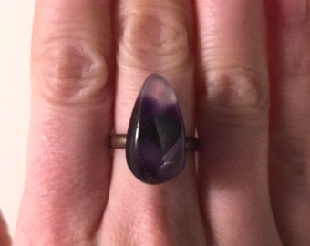 Amethyst | Stone Ring With Adjustable Band