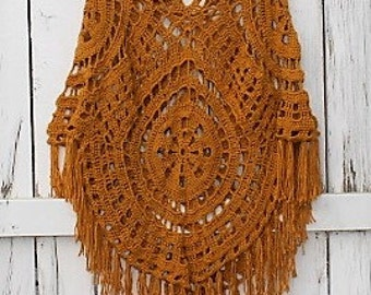 Crochet Summer Poncho, crochet poncho, summer wear