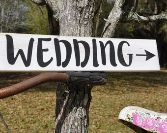 Wedding Directional Wood Sign