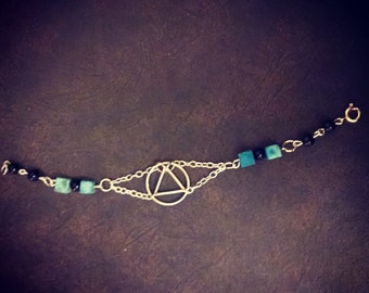Turqouise block and geometric bracelet