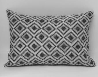 Black and Silver Diamond Pillow Cover