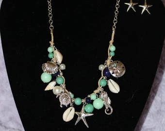 Sea Life Shell Drop Necklace