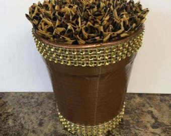 Duct Tape Flower Pot