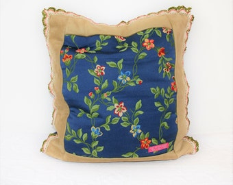 The French Blue collection: flowers, Cushion cover, pillow, pillow, pillow per room only luxury, stylish blue cushion