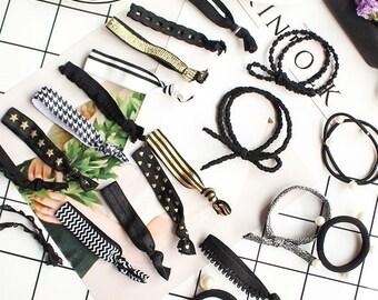 Hair Bands - 20 Vivid Color Collection, Elastic hair band, Ponytail Ties, Ponytail Holders, Hair Ties, Hair Tie Bracelet