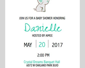 Animals Baby Shower Invitation