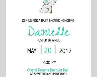 Animals Baby Shower Invitation