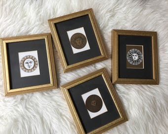 Set of prints, sun artwork, framed artwork, framed prints