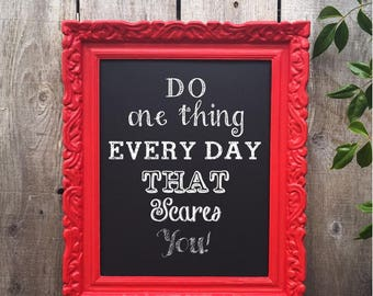 Vintage Red Ornate Framed Magnetic Chalkboard
