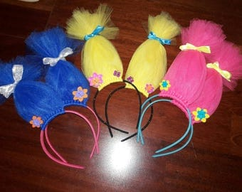 Troll head bands soild color 5 double color 8 triple color 9