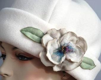 PDF pattern, FLOWER TUTORIAL, 2 hat patterns , pill box hat, polar fleece hat pattern