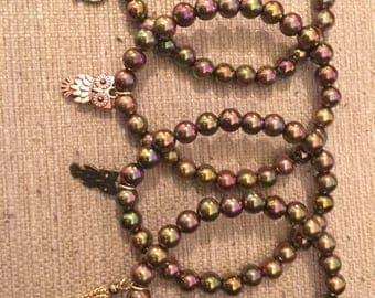 Mixed Charm Beaded Bracelet set (4)