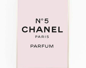 Print / Poster, 'No. 5', Wall Art, Modern, Minimal, Wall Decor, Home Decor, Inspirational Print, Quote Print, Fashion Print, Chanel