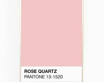 Print / Poster, 'Rose Quartz', Wall Art, Modern, Minimal, Wall Decor, Home Decor, Inspirational Print, Quote Print, Scandinavian, Pantone