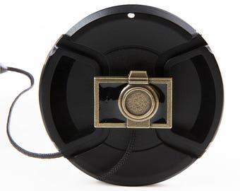 Antiqued Camera Lens Cap Saver Keeper