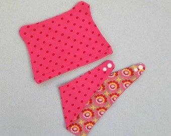 sweet set (PINK) from Öhrchenmütze and turncoat cloth (6-12 months)