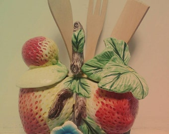 Decorative container for your dining table.Its made of ceramic and handpainted with bright beautiful colours.