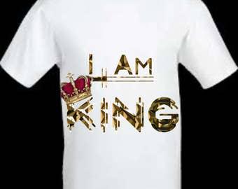 White I am King/Crown Me T-Shirt