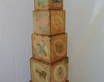 Vintage Wooden Nesting Blocks