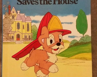 Walt Disney's Scamp Saves the House First American Edition 1981 Grolier Book Club Edition Walt Disney's Wonderful World of Reading